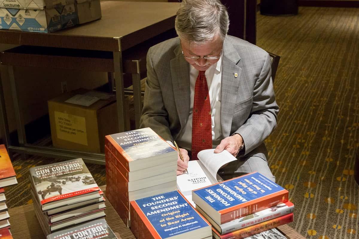 Stephen Halbrook Signing Books at the NRA Foundation's Annual National Firearms Law Seminar