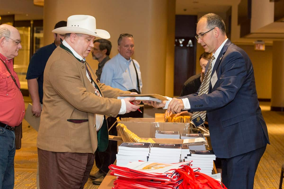 Seminar Crew Welcoming Attendees at the NRA Foundation's Annual National Firearms Law Seminar