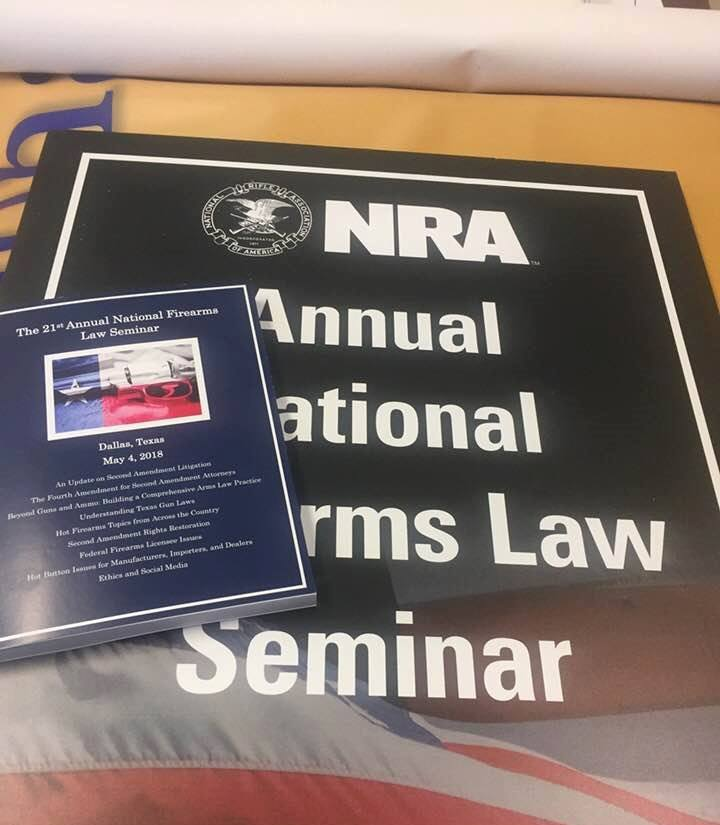 NRA Foundation's Annual National Firearms Law Seminar Program