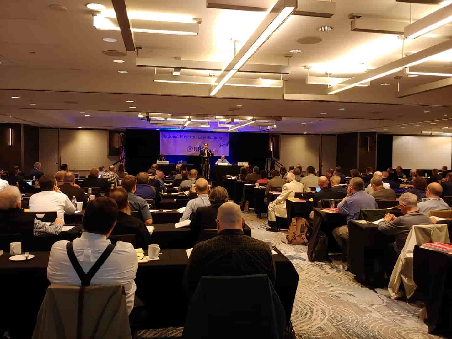 Thompson & Room W at the NRA Foundation's Annual National Firearms Law Seminar